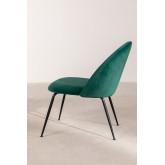 Kana Velvet gepolsterter Sessel mit Fußstütze, Miniaturansicht 3
