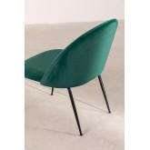 Kana Velvet gepolsterter Sessel mit Fußstütze, Miniaturansicht 4