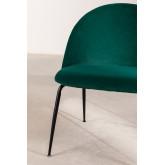 Kana Velvet gepolsterter Sessel mit Fußstütze, Miniaturansicht 5
