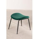 Kana Velvet gepolsterter Sessel mit Fußstütze, Miniaturansicht 6