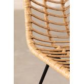 Hoher Stuhl aus synthetischem Rattan aus natürlichem Gouda, Miniaturansicht 5