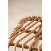 Hoher Stuhl aus synthetischem Rattan aus natürlichem Gouda, Miniaturansicht 4