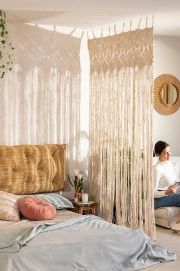 Vorhang in Macramé (215x110 cm) Cendala