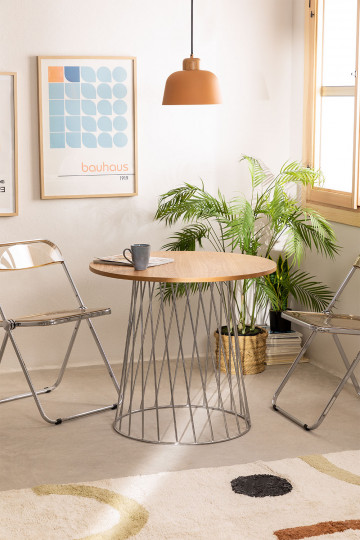Tisch Mura natürlich und metallisch
