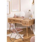 Berkem MDF Schreibtisch mit Schubladen, Miniaturansicht 1