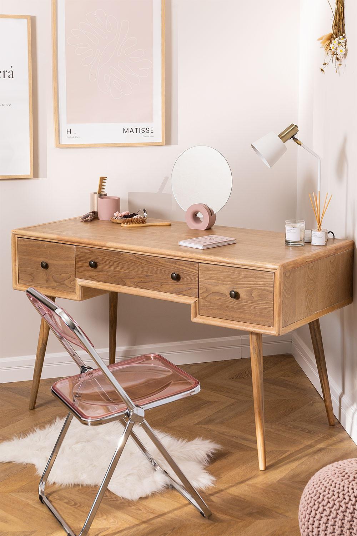 Berkem MDF Schreibtisch mit Schubladen, Galeriebild 1