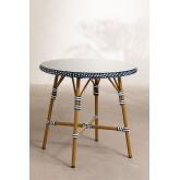 Runder Gartentisch aus synthetischem Korbgeflecht (Ø80 cm) Alisa, Miniaturansicht 1