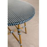Runder Gartentisch aus synthetischem Korbgeflecht (Ø80 cm) Alisa, Miniaturansicht 2