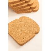 Packung mit 6 Binbo Cork Untersetzern, Miniaturansicht 3
