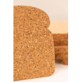 Packung mit 6 Binbo Cork Untersetzern, Miniaturansicht 4