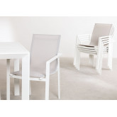 Ausziehbares Starmi-Tischset (180 - 240 cm) und 6 Eika-Gartenstühle, Miniaturansicht 3