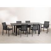 Ausziehbares Starmi-Tischset (180 - 240 cm) und 6 Eika-Gartenstühle, Miniaturansicht 2