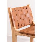 Zaid Holz und Leder Hochhocker, Miniaturansicht 5