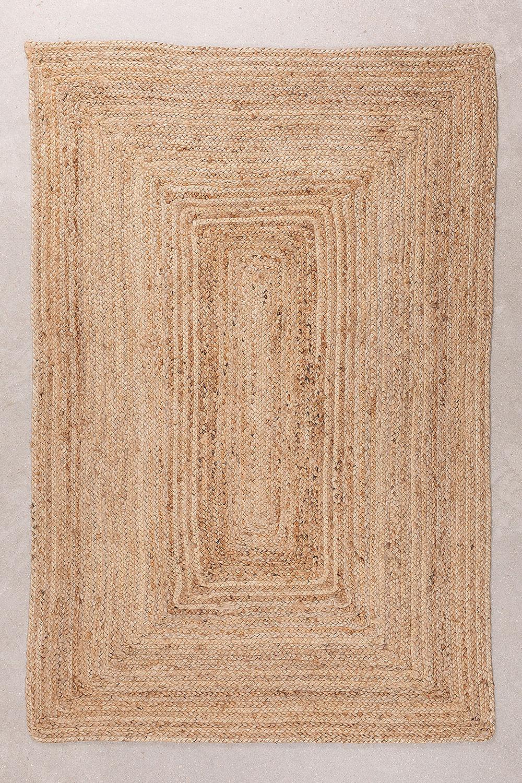 Geflochtener Teppich Tempo aus Naturjute, Galeriebild 1