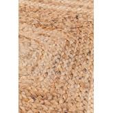 Geflochtener Teppich Tempo aus Naturjute, Miniaturansicht 3