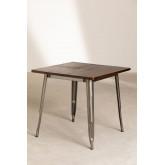 Quadratischer Esstisch aus Holz (80x80) LIX Gebürstet, Miniaturansicht 1