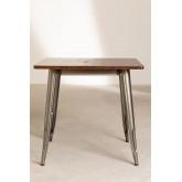 Quadratischer Esstisch aus Holz (80x80) LIX Gebürstet, Miniaturansicht 2