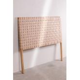 Zaid Holz- und Lederkopfteil für 150 cm Bett, Miniaturansicht 2