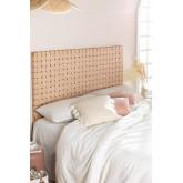 Zaid Holz- und Lederkopfteil für 150 cm Bett, Miniaturansicht 1