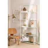 5 Regale Regale aus Metall und vertikalem Glas, Miniaturansicht 1