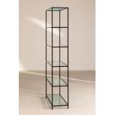 5 Regale Regale aus Metall und vertikalem Glas, Miniaturansicht 3