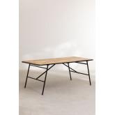 Rechteckiger Esstisch aus Holz (200 x 91 cm) im Nathar-Stil, Miniaturansicht 2