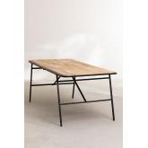 Rechteckiger Esstisch aus Holz (200 x 91 cm) im Nathar-Stil, Miniaturansicht 3