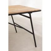 Rechteckiger Esstisch aus Holz (200 x 91 cm) im Nathar-Stil, Miniaturansicht 4