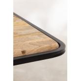 Rechteckiger Esstisch aus Holz (200 x 91 cm) im Nathar-Stil, Miniaturansicht 5