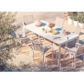 Ausziehbares Starmi-Tischset (180 - 240 cm) und 6 Eika-Gartenstühle, Miniaturansicht 1