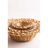 Dekorative Platte in Rewa Bambus, Miniaturansicht 5
