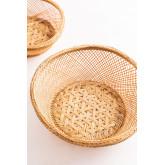 Pack mit 4 dekorativen Tellern aus Bambus Murwa, Miniaturansicht 4