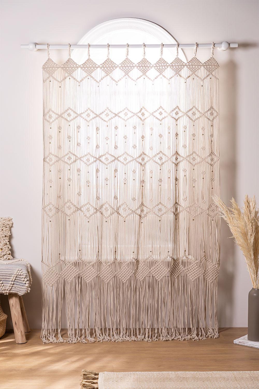 Makramee-Vorhang (215x110 cm) Luana, Galeriebild 1