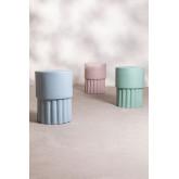 Runder Hilfstisch aus Luba-Keramik, Miniaturansicht 5