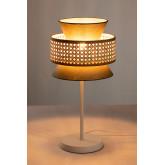 Tischlampe in Rattan Yereh, Miniaturansicht 2