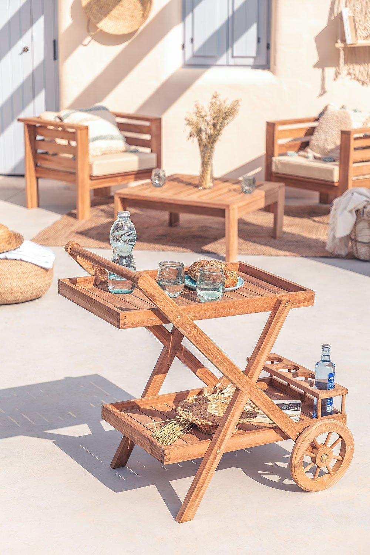 Gartenwagen aus Teakholz Pira, Galeriebild 1