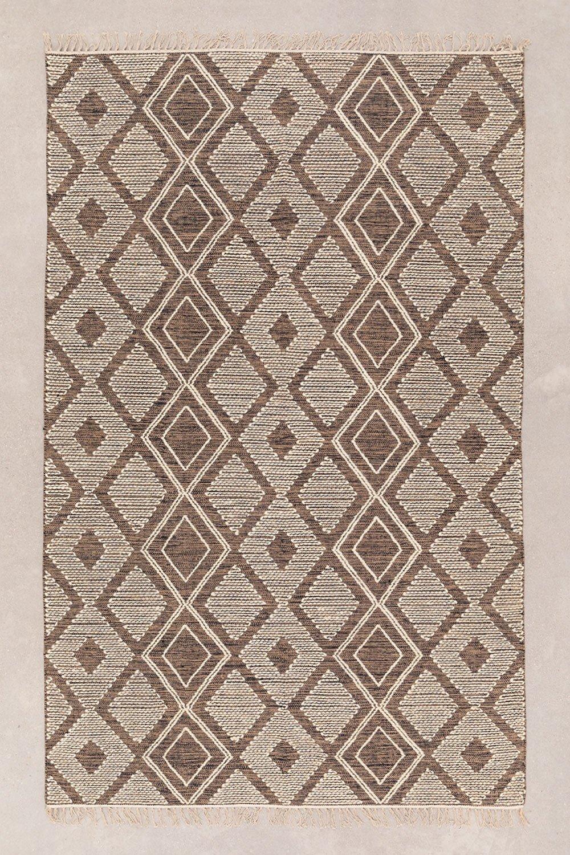 Teppich aus Baumwolle und Wolle (253x161 cm) Hiwa, Galeriebild 1