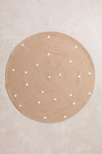 Runder natürlicher Juteteppich (Ø150 cm) Naroh