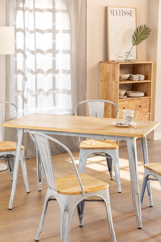 Tisch LIX Vintage Holz (120x60), Galeriebild 1