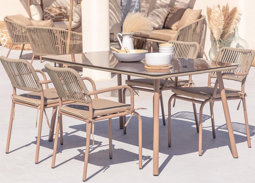 Arhiza Gartentisch und 4 Stühle Set , Galeriebild 1