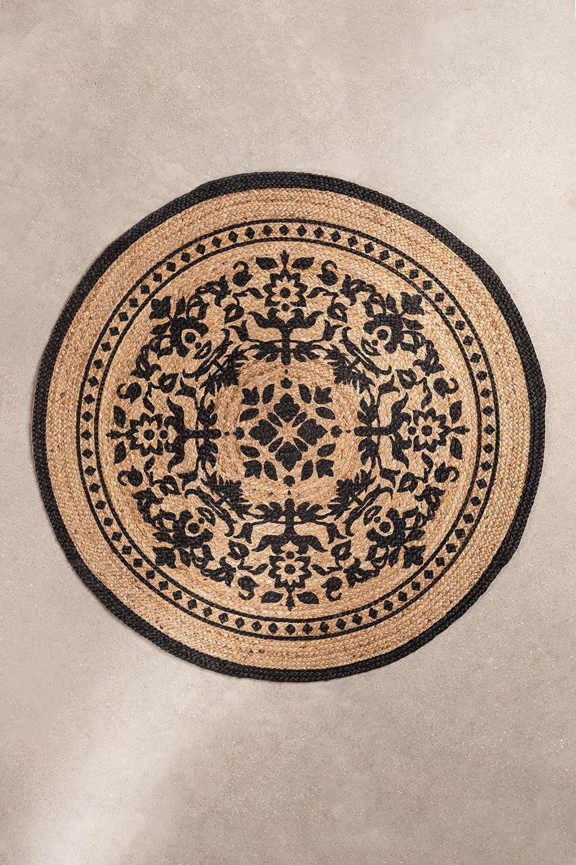 Runder natürlicher Juteteppich (Ø100 cm) Tricia, Galeriebild 1
