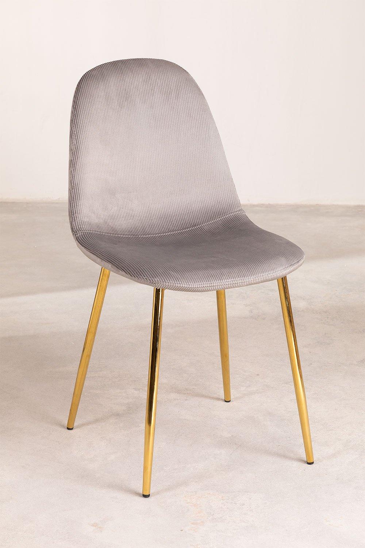 Pack 2 Stühle aus Cord Glamm, Galeriebild 1