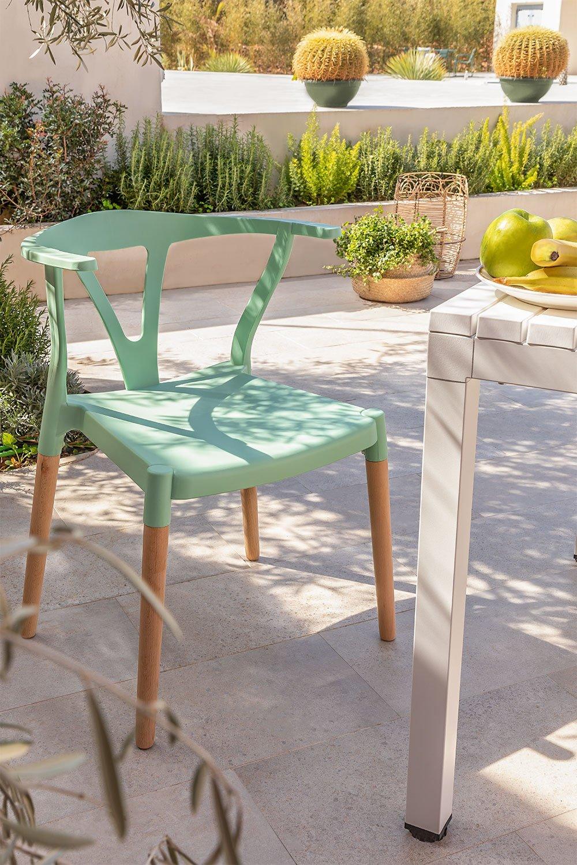 Gartenstuhl aus Polyethylen und Uish Wood, Galeriebild 1