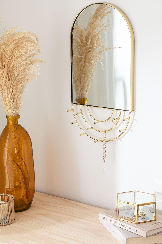 Wandmontierter Schmuckspiegel in Metallleihe, Galeriebild 1