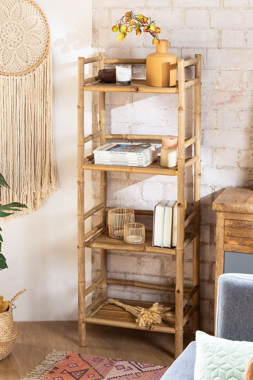 Regal 4 Regale in Bambus Ruols, Galeriebild 1