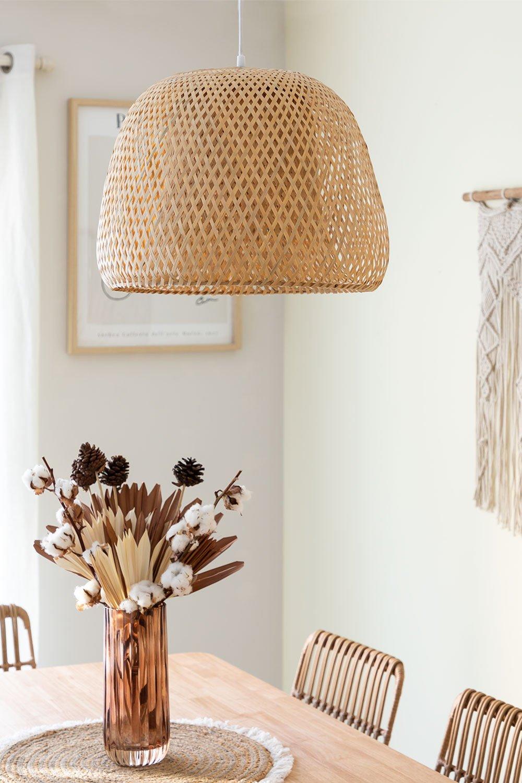 Deckenleuchte aus Bambus (Ø45 cm) Debi, Galeriebild 1