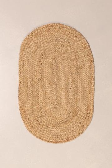 Ovale Fußmatte aus natürlichem Jute (73x46,5 cm) Never