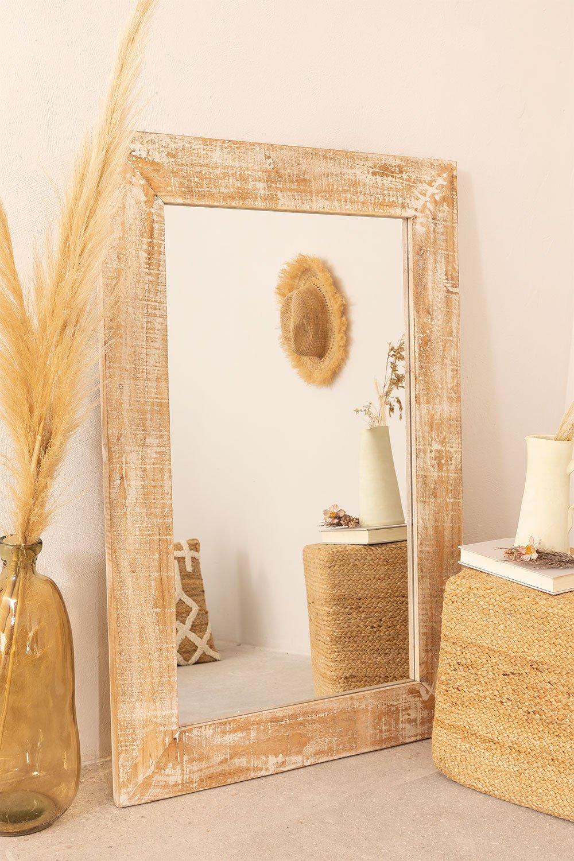 Rechteckiger Wandspiegel aus Holz (120x80 cm) Vuipo, Galeriebild 1