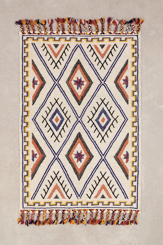 Teppich aus Wolle und Baumwolle (206x138 cm) Nango, Galeriebild 1