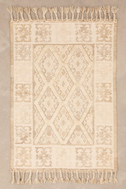 Teppich aus Wolle und Baumwolle (205x140 cm) Takora, Galeriebild 1